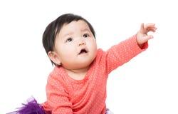 Азиатский указывать пальца ребёнка Стоковые Фотографии RF