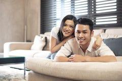 азиатский уклад жизни пар стоковая фотография