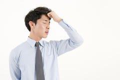 азиатский усиленный бизнесмен стоковые фото
