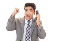 азиатский усмехаться бизнесмена стоковые фотографии rf