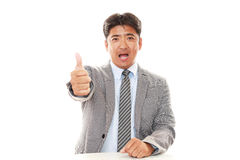азиатский усмехаться бизнесмена Стоковая Фотография