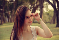 азиатский усмехаться девушки Стоковые Фотографии RF