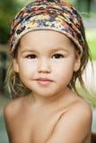 азиатский усмехаться портрета mestizo девушки Стоковое Фото
