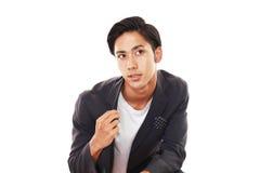 азиатский усмехаться человека стоковое изображение rf