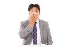 азиатский удивленный бизнесмен стоковое фото