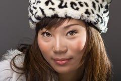азиатский шлем красотки Стоковое Фото