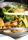 азиатский шримс лотка еды цыпленка тайский стоковые фотографии rf