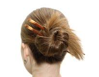 азиатский coiffure вставляет женщину Стоковая Фотография