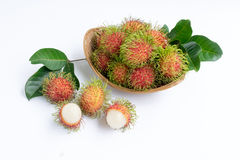 азиатский rambutan плодоовощ Стоковое Изображение