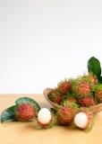 азиатский rambutan плодоовощ Стоковое фото RF