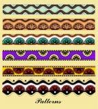 азиатскими тип установленный орнаментами Стоковые Изображения RF