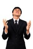 азиатским детеныши усиленные бизнесменом стоковая фотография rf