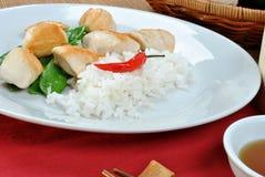 азиатским тип цыпленка испаренный рисом Стоковые Изображения RF