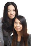 2 азиатских друз женщины Стоковые Фото