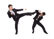 азиатское бой бизнесмена Стоковое Фото