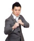 азиатское бой бизнесмена Стоковое Изображение RF
