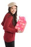 азиатское Валентайн девушки подарка Стоковое Фото