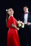 азиатское венчание пар Стоковое Фото