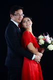 азиатское венчание пар Стоковые Изображения