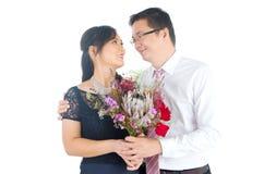 азиатское венчание пар Стоковые Фото