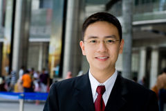 азиатское дело хорошее смотрящ человека Стоковое Изображение RF