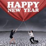 Азиатское знамя Нового Года сопротивления businessteam Стоковая Фотография