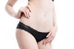Азиатское тело женщины тонкое Стоковая Фотография