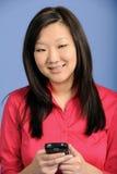 азиатское pda дела используя женщину Стоковые Изображения RF