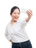 Азиатское selfie женщины Стоковое Изображение