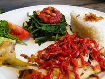 азиатское tex кухни balinese ayam стоковое фото