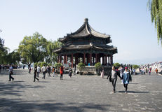 Азиат Китай, Пекин, летний дворец, Kuo Ru окрашивает Стоковая Фотография RF