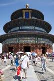 Азиат Китай, Пекин, парк Tiantan, зала молитвы для хороших сборов Стоковая Фотография RF