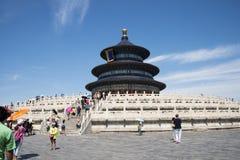 Азиат Китай, Пекин, парк Tiantan, зала молитвы для хороших сборов Стоковые Изображения RF