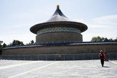 Азиат Китай, Пекин, парк Tiantan, имперский свод рая, исторические здания Стоковое Фото