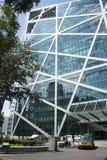 Азиат Китай, Пекин, современная архитектура, трава qiaofu душистая Стоковые Фото