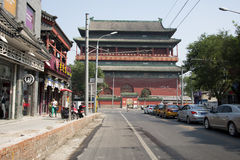 Азиат Китай, Пекин, старая архитектура, башня барабанчика Стоковая Фотография