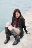 азиат boots носить девушки Стоковое Изображение RF