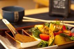 Азия зажарила овощи типа Стоковые Фото