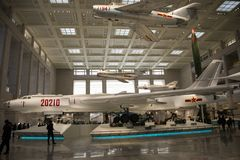 Азия Китай, воинский музей, бомбардировщик стоковое изображение