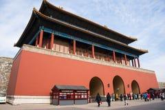 Азия Китай, Пекин, имперский дворец, дверь конца ŒThe ¼ architectureï ландшафта, пол строба Стоковые Фото