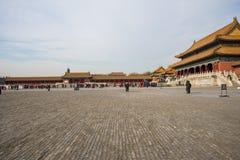 Азия Китай, Пекин, имперский дворец, история здания, павильоны, террасы и открытые залы Стоковое Фото
