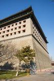 Азия Китай, Пекин, династия стены Ming губит парк, башенки стоковая фотография