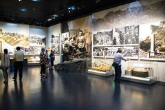 Азия Китай, Пекин, музей войны сопротивления людей против выставки ŒIndoor ¼ Aggressionï японца Стоковое Изображение