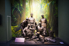 Азия Китай, Пекин, музей войны сопротивления людей против выставки ŒIndoor ¼ Aggressionï японца Стоковая Фотография