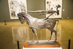 Азия Китай, Пекин, музей изобразительных искусств Китая, Œself-сброс ¼ Sculptureï умерших стоковые изображения rf