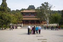 Азия Китай, Пекин, парк холма Jingshan, ландшафт сада весны Стоковые Фотографии RF