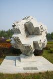 Азия Китай, Пекин, порт цветка Shunyi, скульптура, печатая Стоковое фото RF
