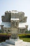 Азия Китай, Пекин, порт цветка Shunyi, скульптура, печатая Стоковая Фотография