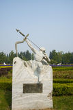 Азия Китай, Пекин, порт цветка Shunyi, скульптура, порох Стоковое Изображение RF