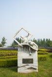 Азия Китай, Пекин, порт цветка Shunyi, сделанная скульптура, бумага Стоковое Изображение